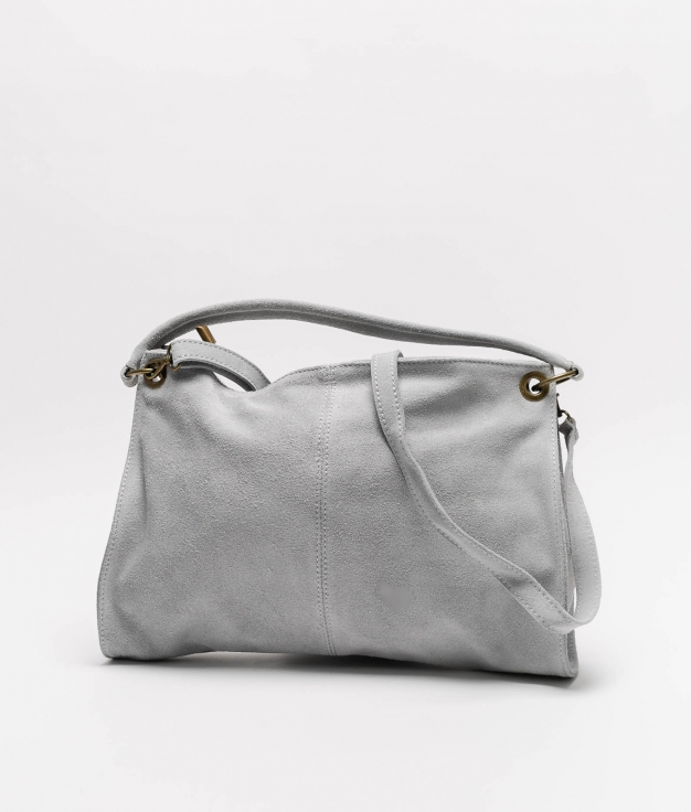 Rica leather bag - gray