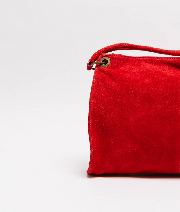Rica leather bag - red