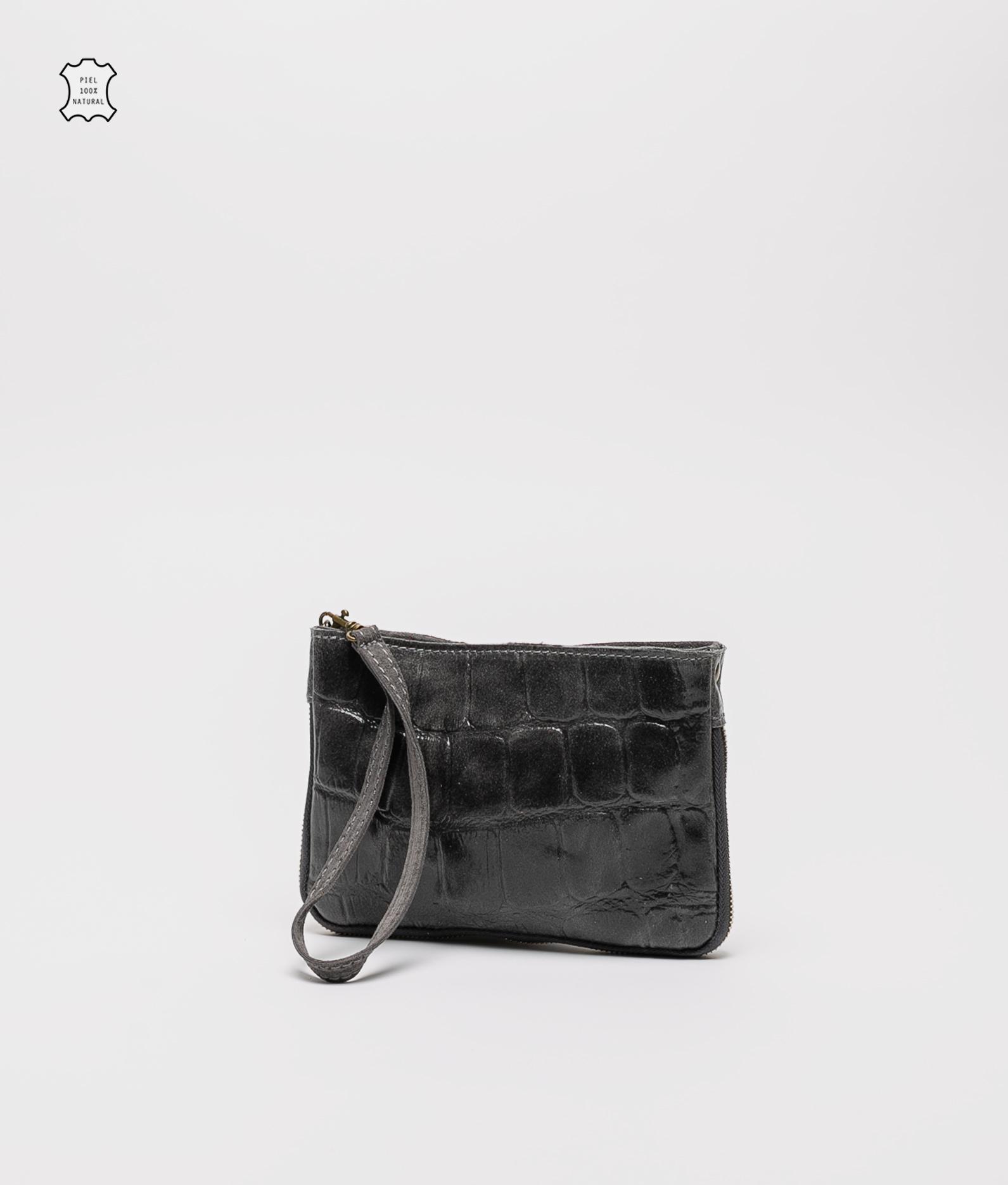 Finland leather crossbody bag - gray