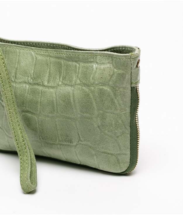 Bandolera de piel Finlandia - verde manzana