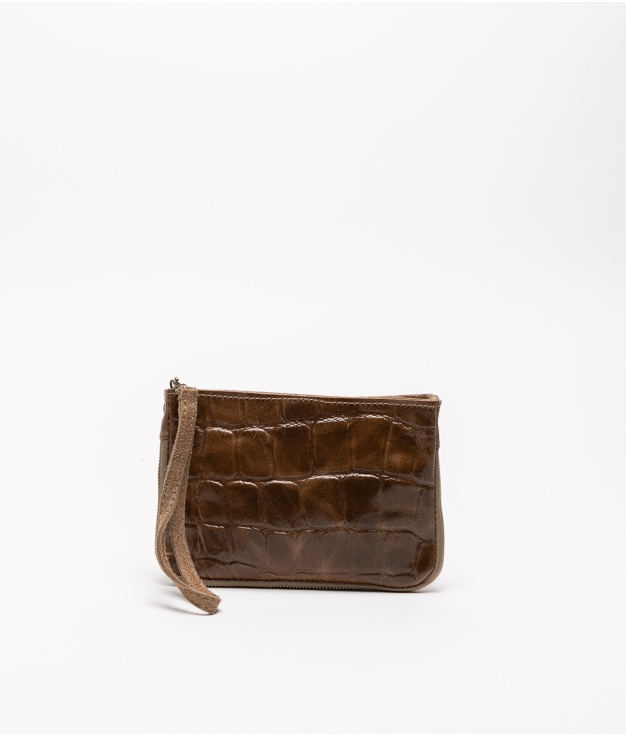 Finland leather crossbody bag - brown
