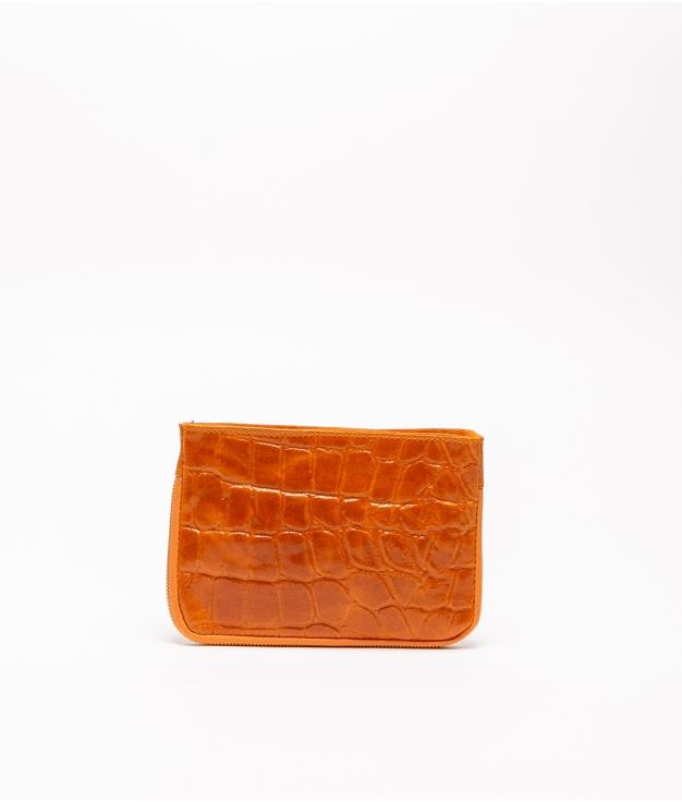 Finland leather crossbody bag - orange