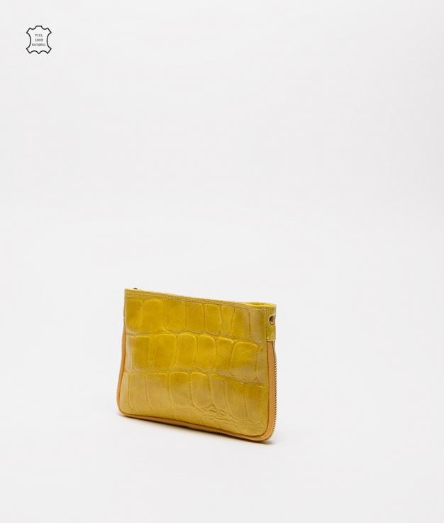 Borsa a tracolla in pelle Finlandia - giallo