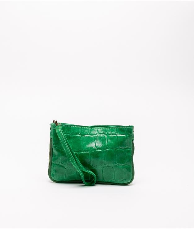 Bandolera de piel Finlandia - verde