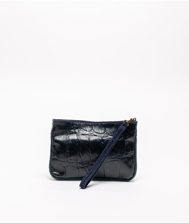 Bolsa em pele finlandesa - azul marenho