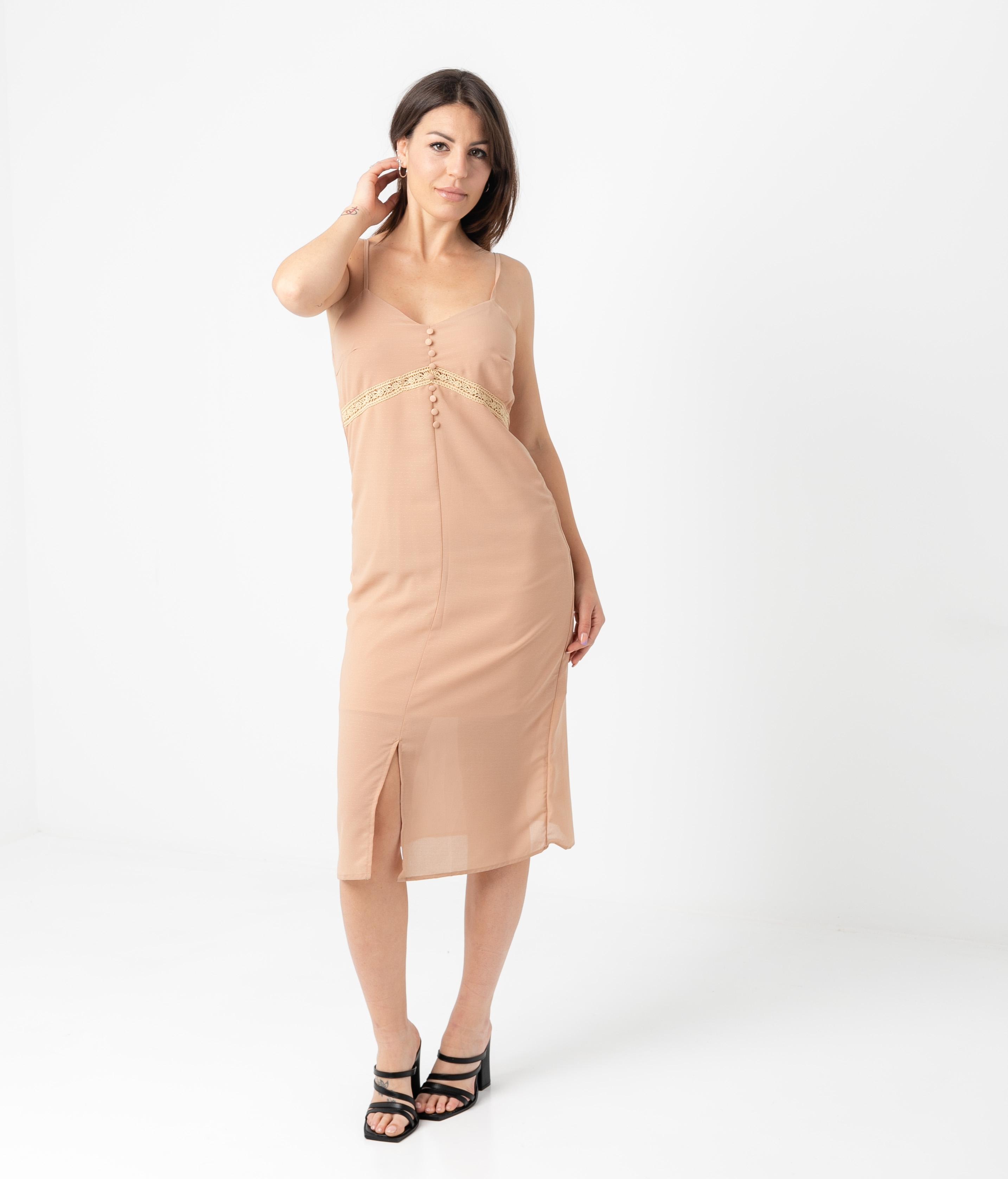 GRINQUE DRESS - BEIGE