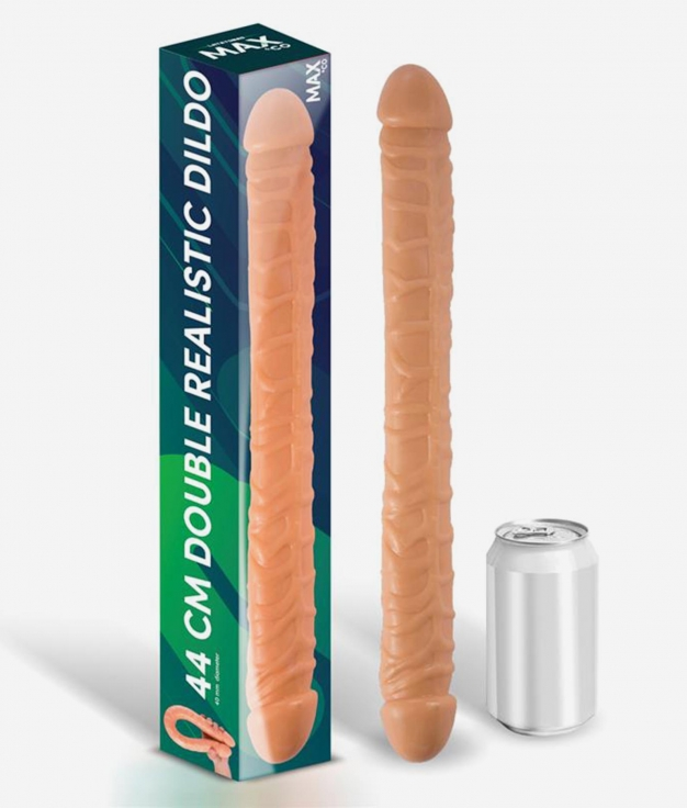 TRENT DILDO DOBLE REALISTA NATURAL 44 CM