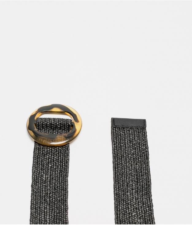 cinturon leopa - negro