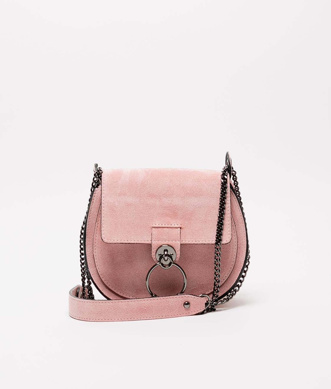 Bandolera de piel Adele - pink