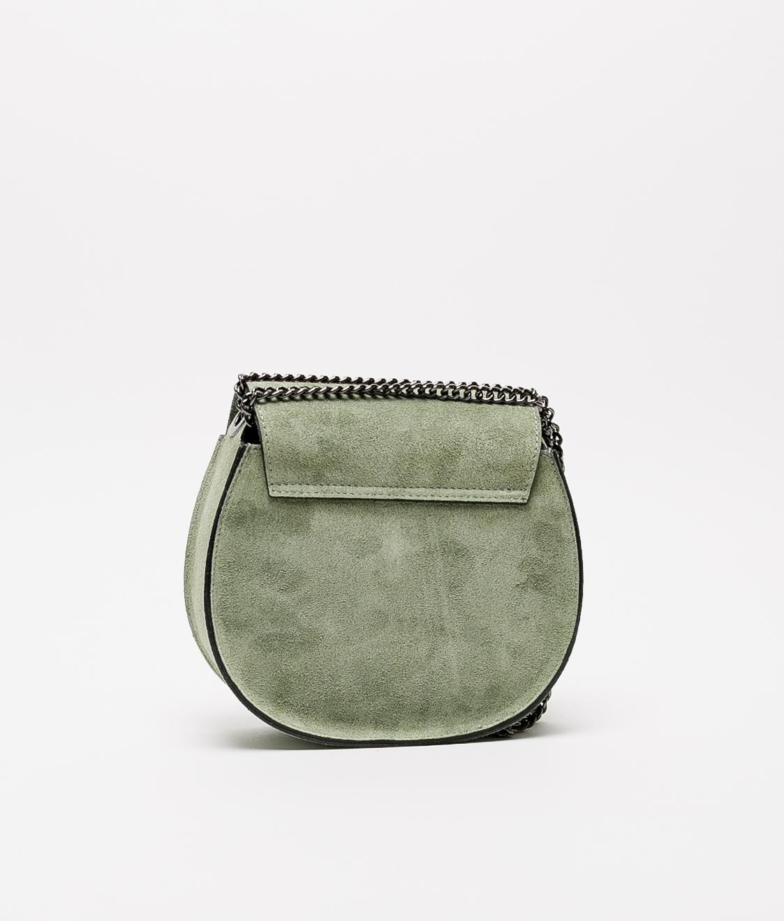 Bandolera de piel Adele - water green