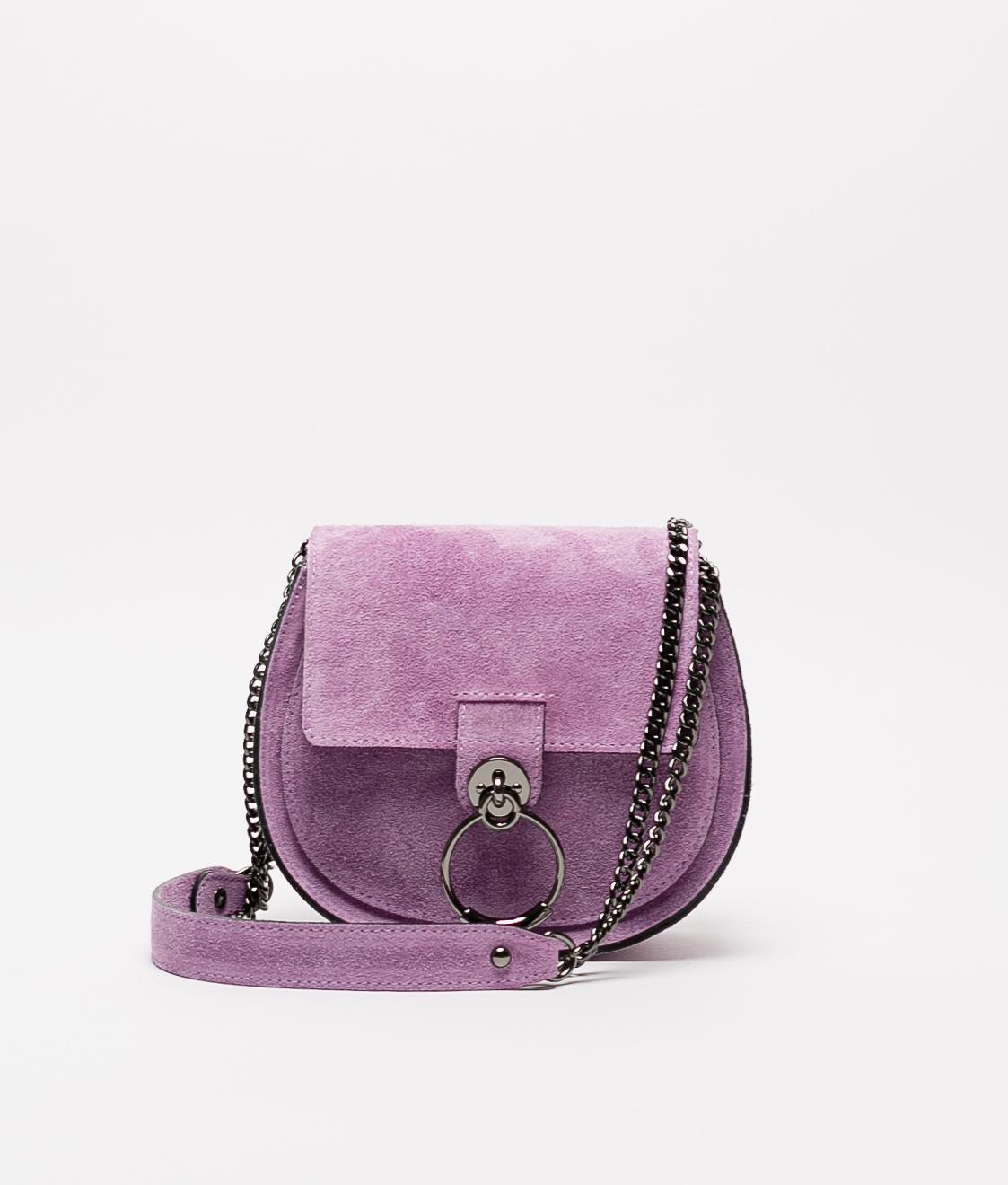 Bandolera de piel Adele - purple