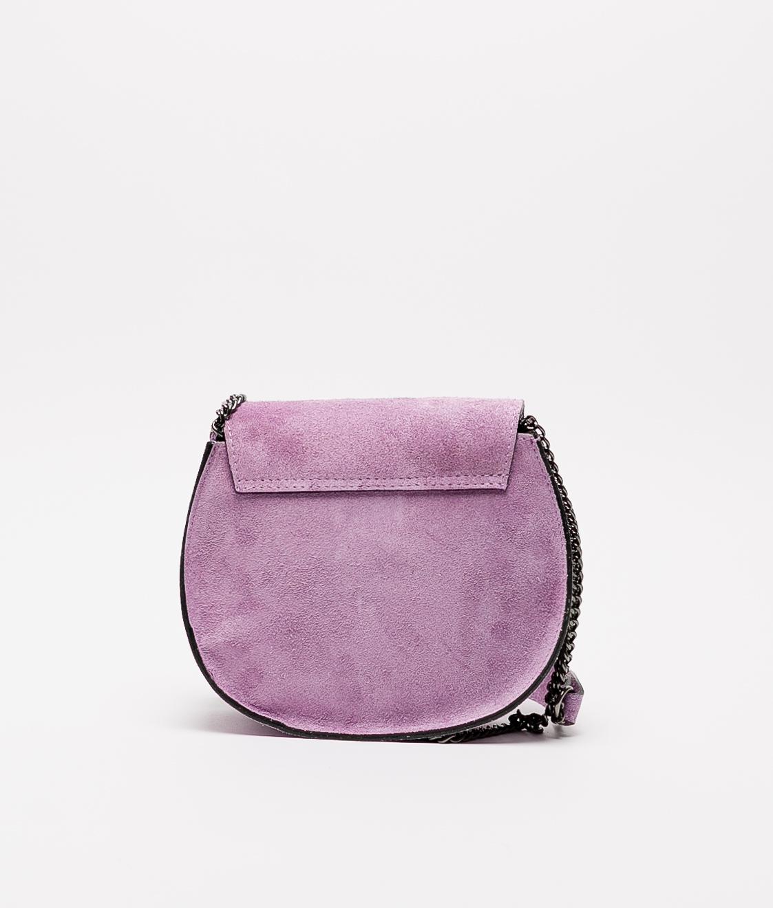 Bandolera de piel Adele - violette