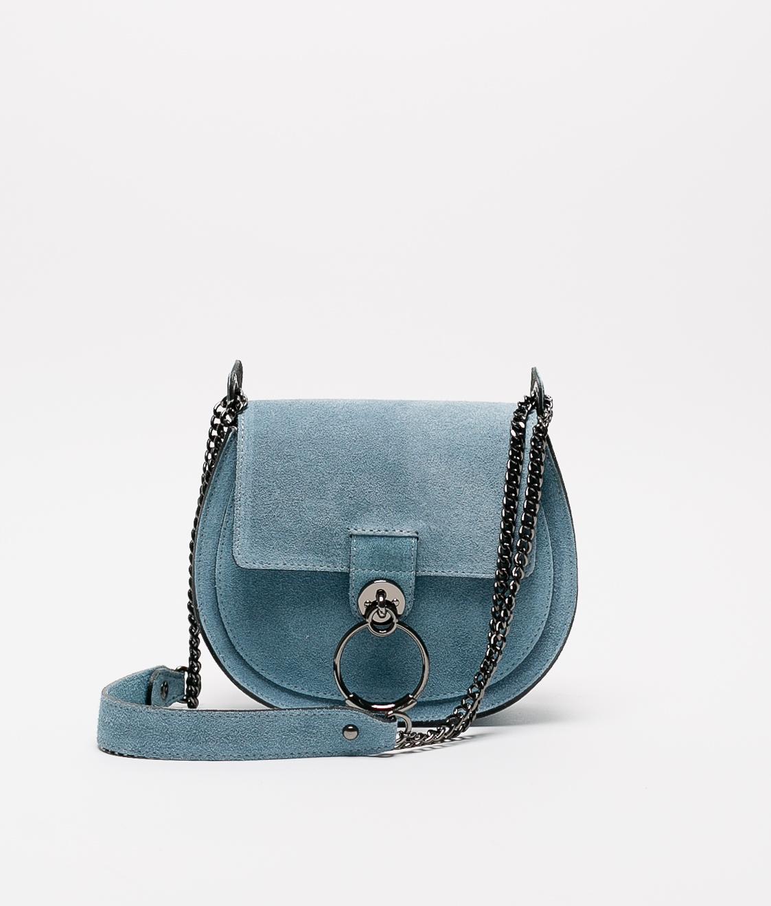 Bandolera de piel Adele - blue