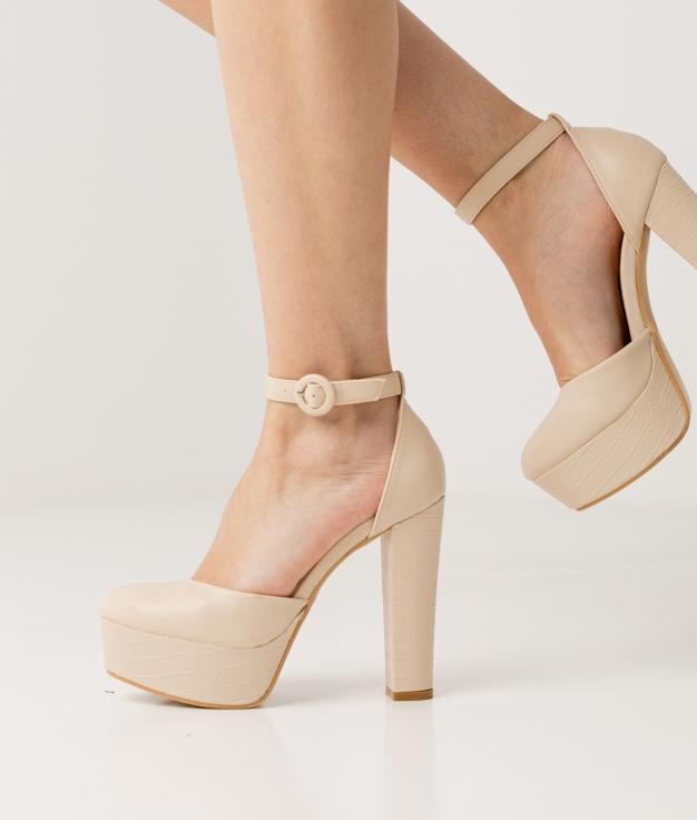 Zapato de Tacón Yanos - Beige