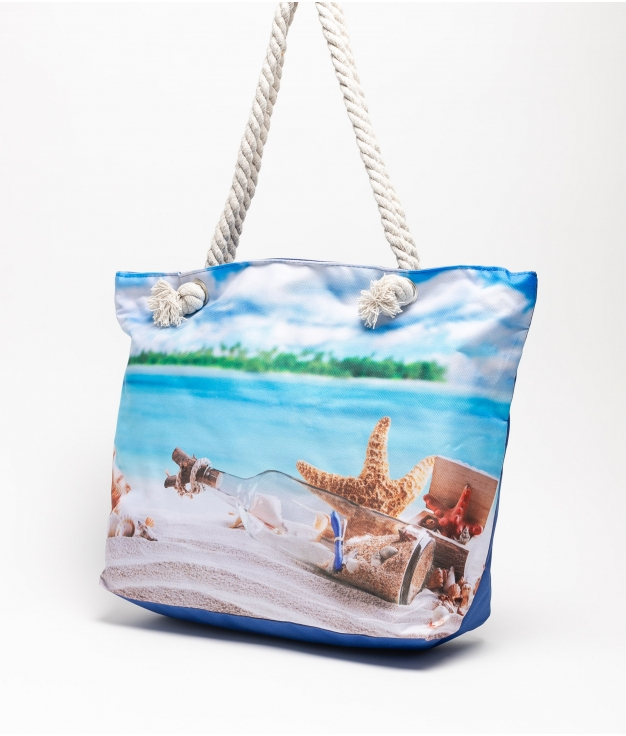 MARINA BEACH BAG - BLUE PLAYA