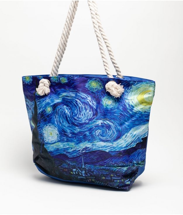 MARINA BEACH BAG - BLUE THE STARRY NIGHT VAN GOGH