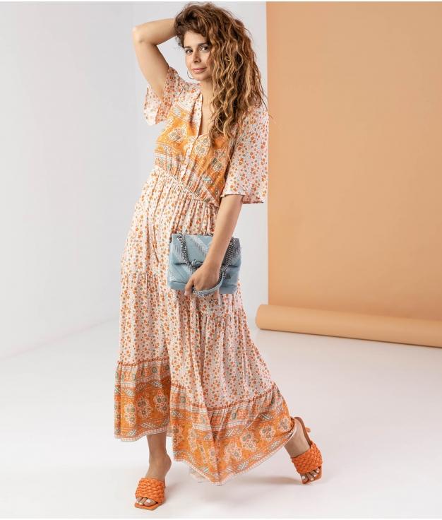 Vestido Genasti - Naranja