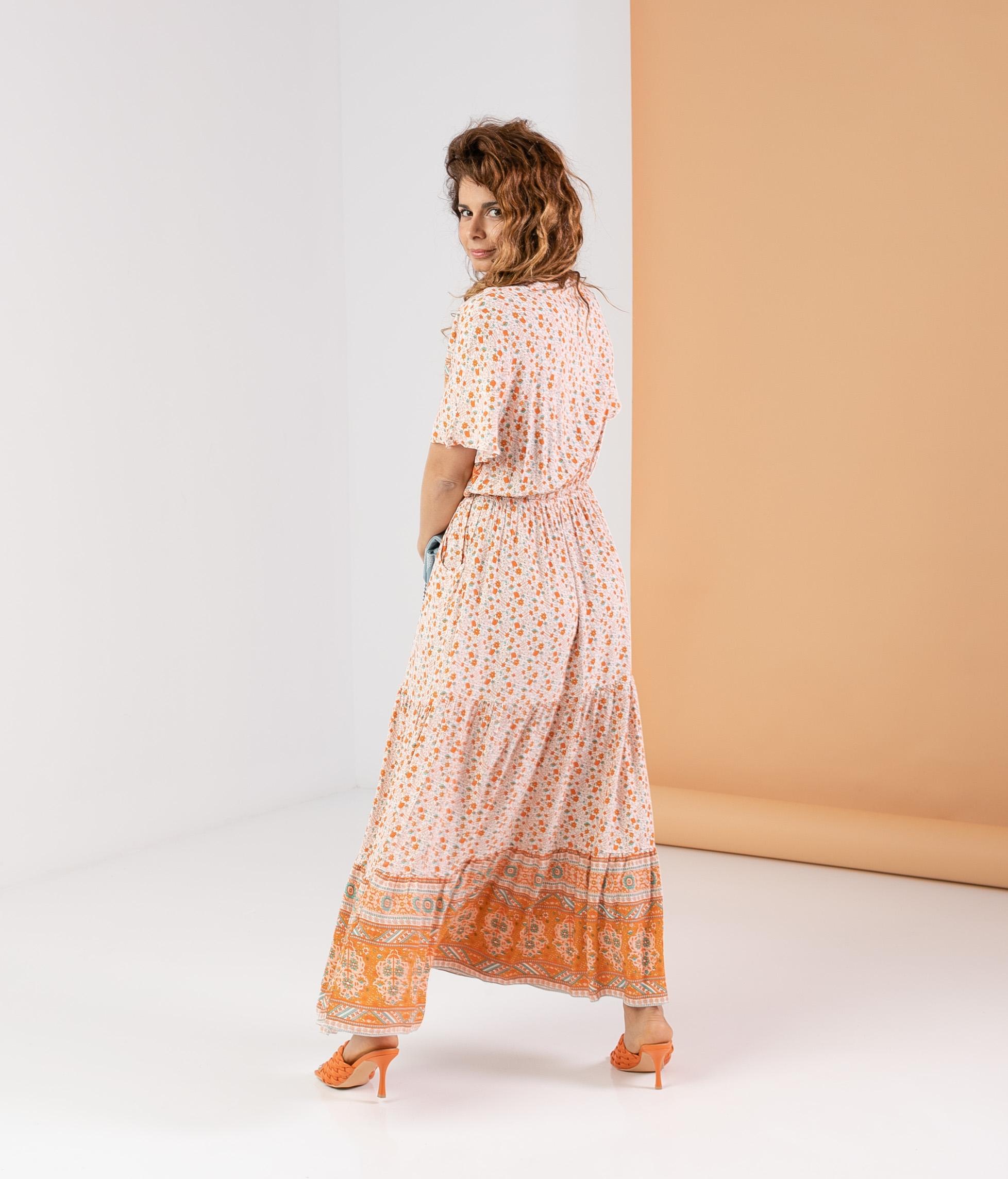 Vestido Genasti - Laranja