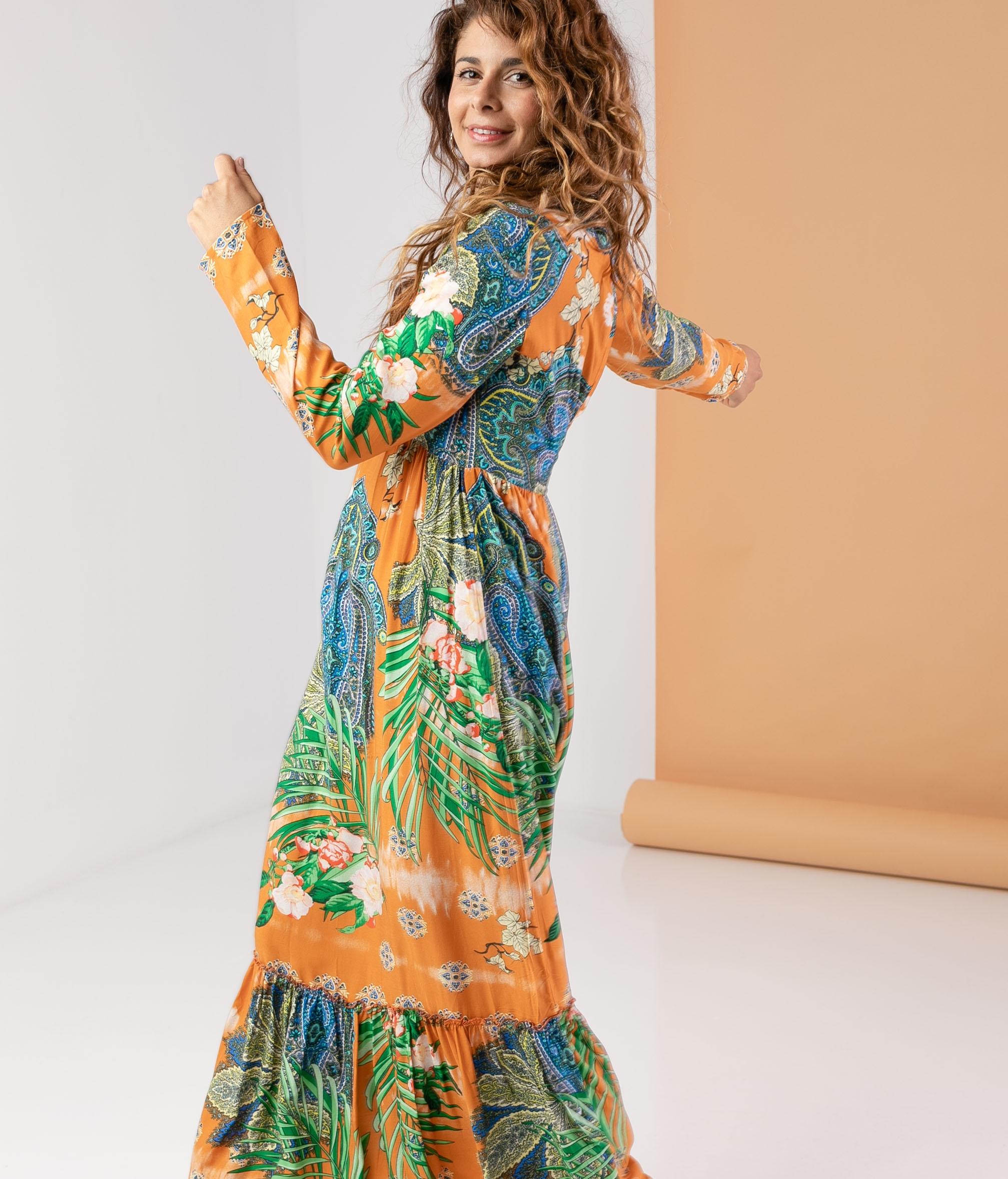 Vestido Asaben - Orange