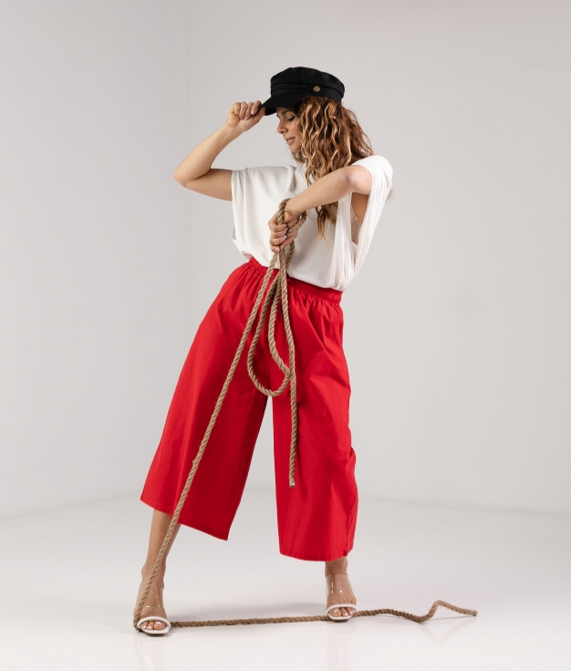 TROUSERS TIRZI - RED