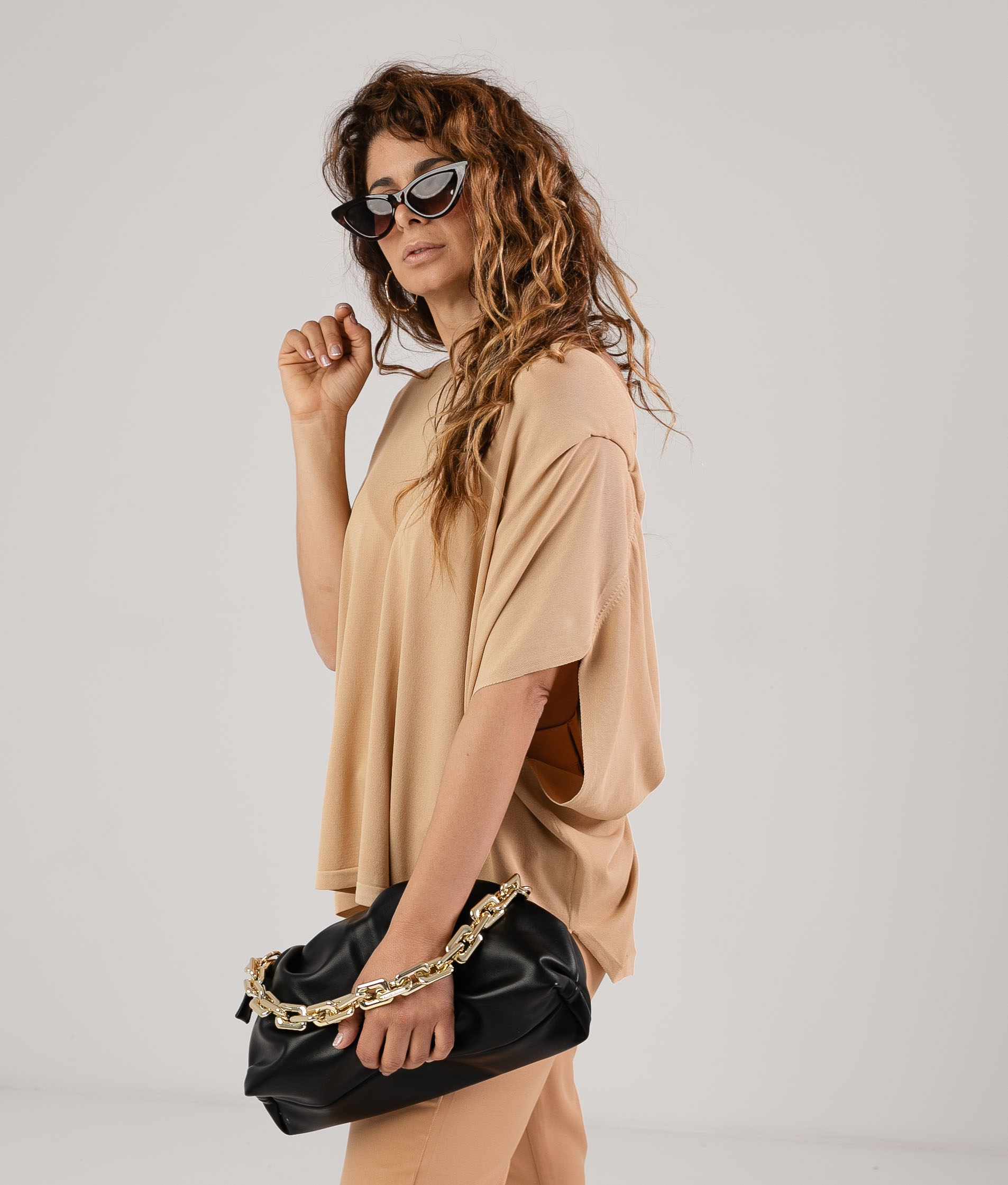 Camiseta Pistol - Camel