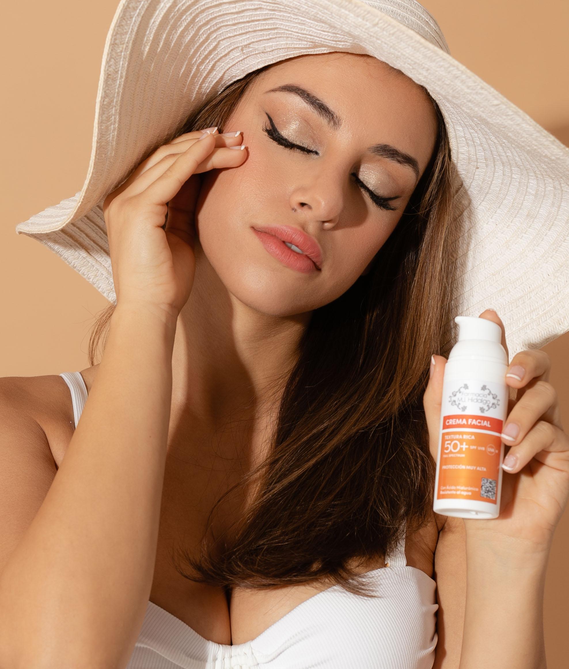 Crema Facial Spf-50 MJ Hidalgo - Textura Rica