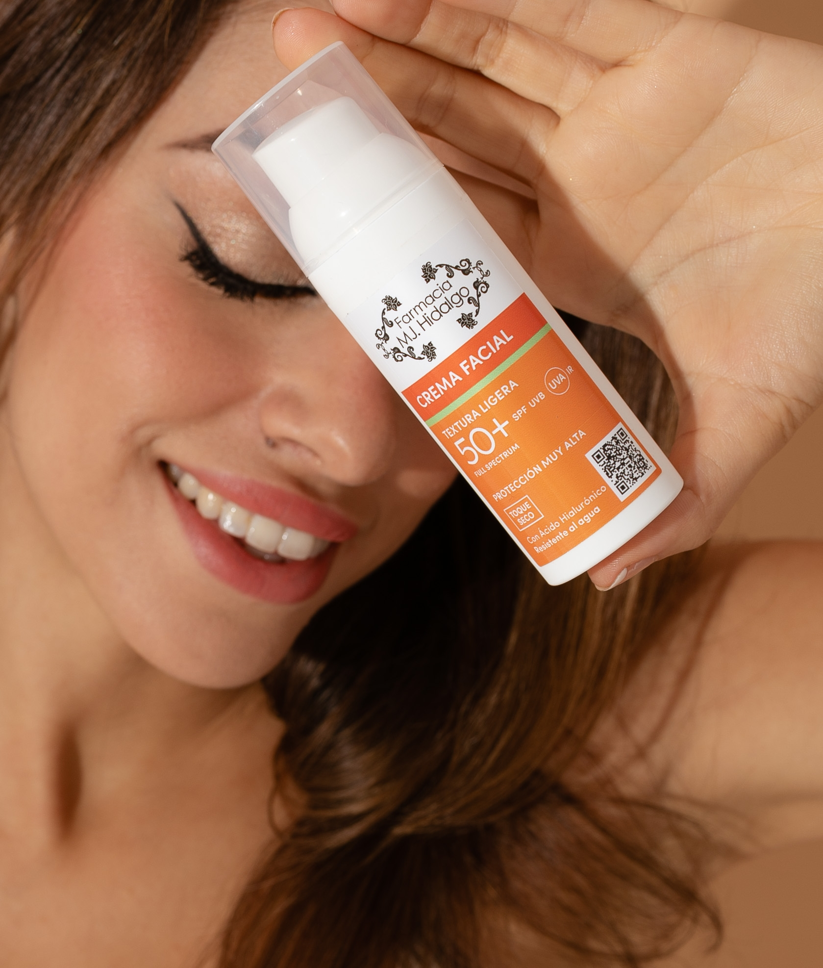 Crema Facial Spf-50 MJ Hidalgo - Textura Ligera