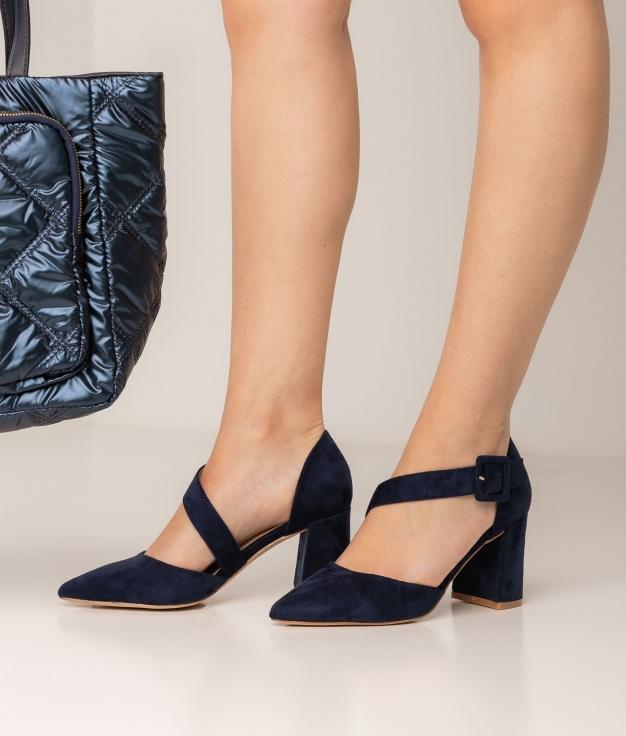 Zapato de Tacón Omera - Azul Marino