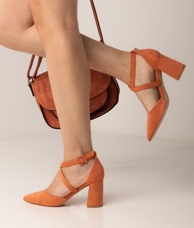 Sapato de Salto Pletia - Laranja
