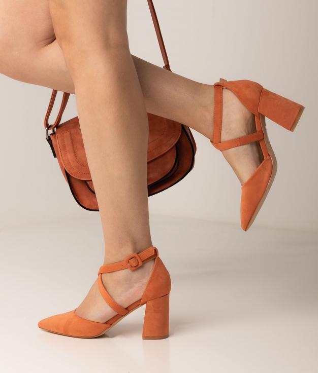 Zapato de Tacón Pletia - Naranja
