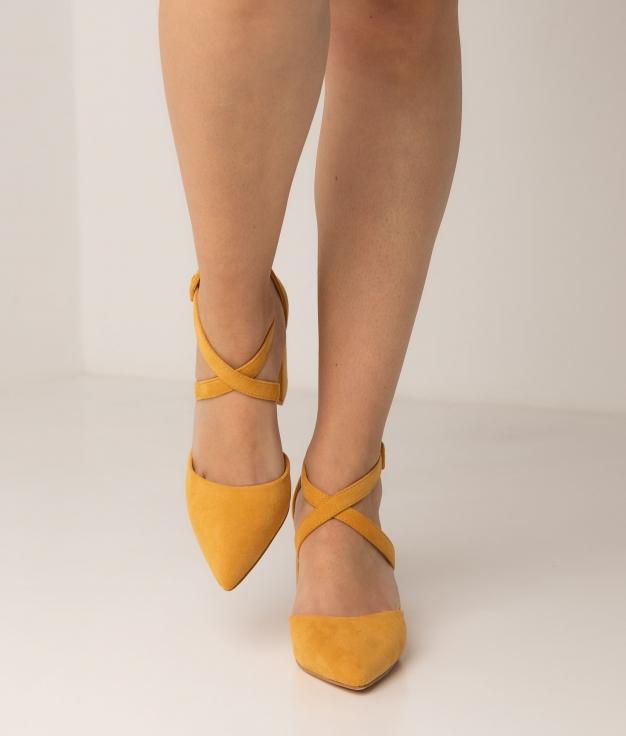 Sapato de Salto Pletia - Amarelo