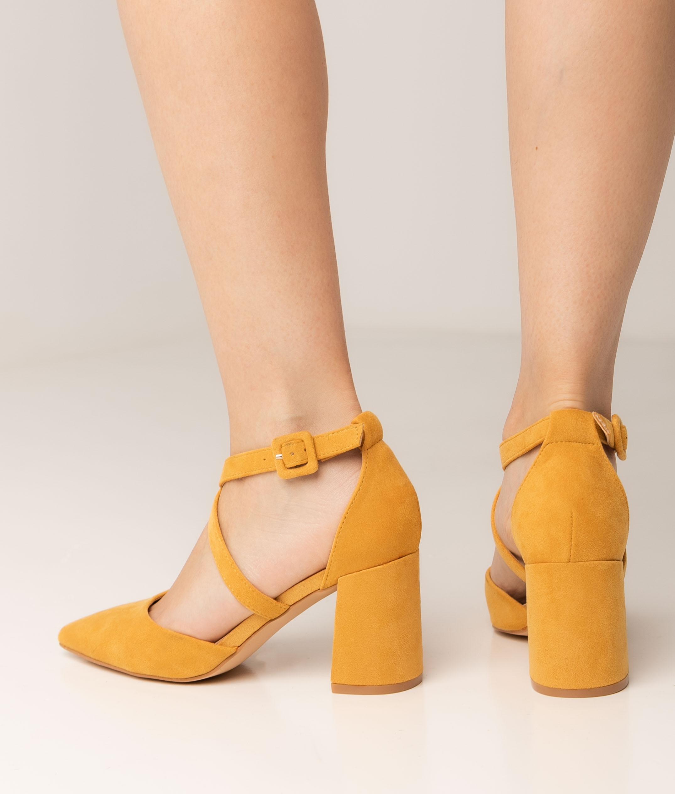Zapato de Tacón Pletia - Amarillo