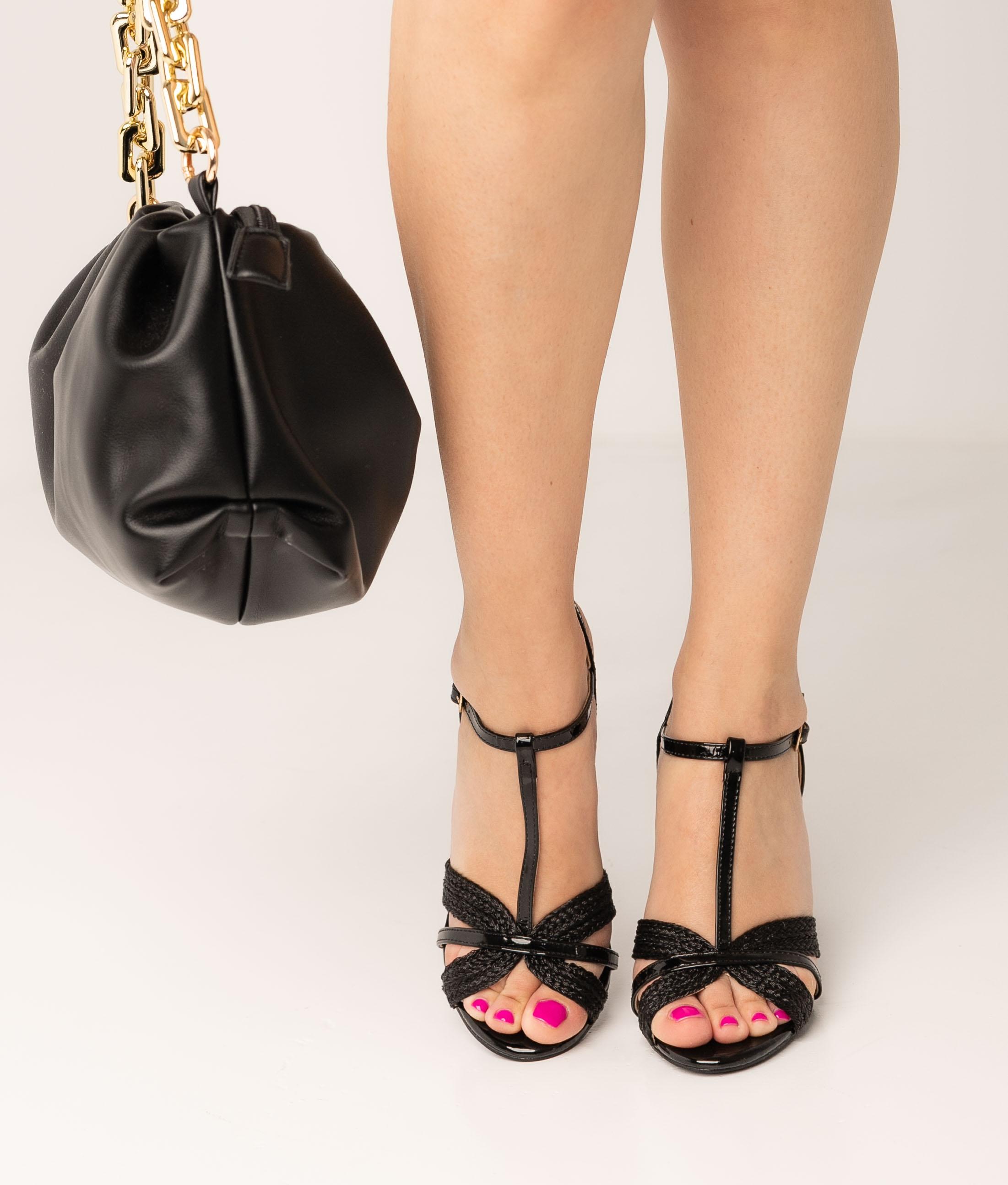 Sandale Talon Salsan - Noir
