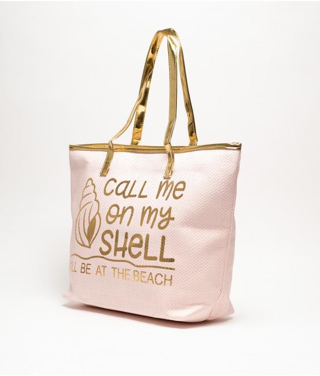 HELLO BEACH BAG -SHELL