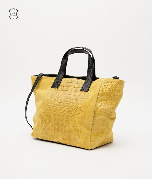 Bolso de piel Tesur - amarillo