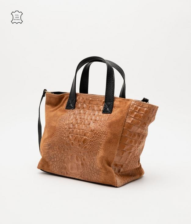 Leather bag Tesur - camel