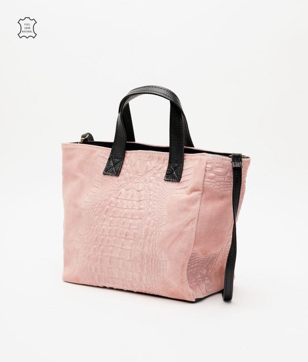 Leather bag Tesur - rose