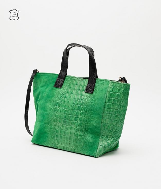 Leather bag Tesur - hierba