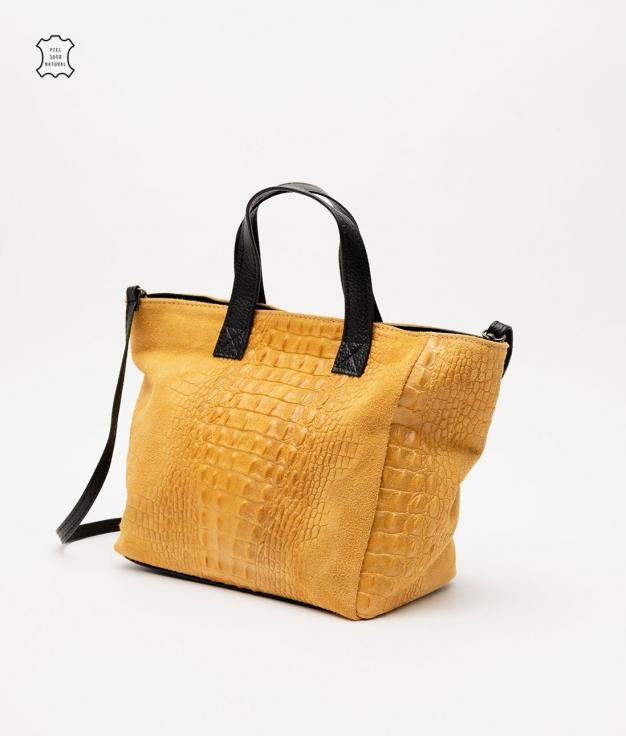 Leather bag Tesur - mustard
