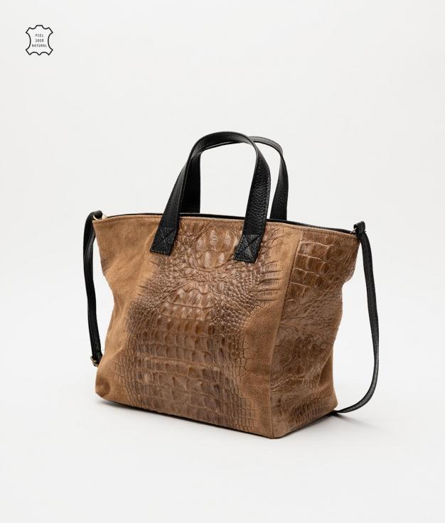 Leather bag Tesur - taupe o.