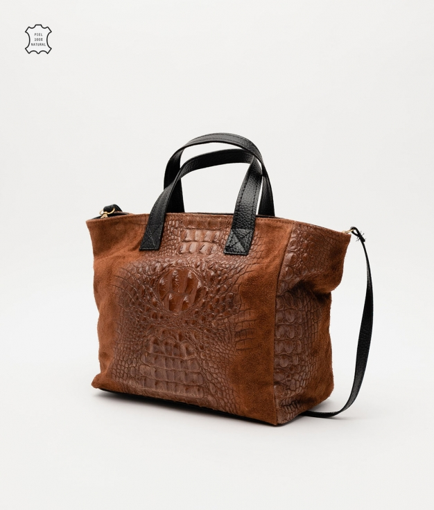 Bolso de piel Tesur - marron