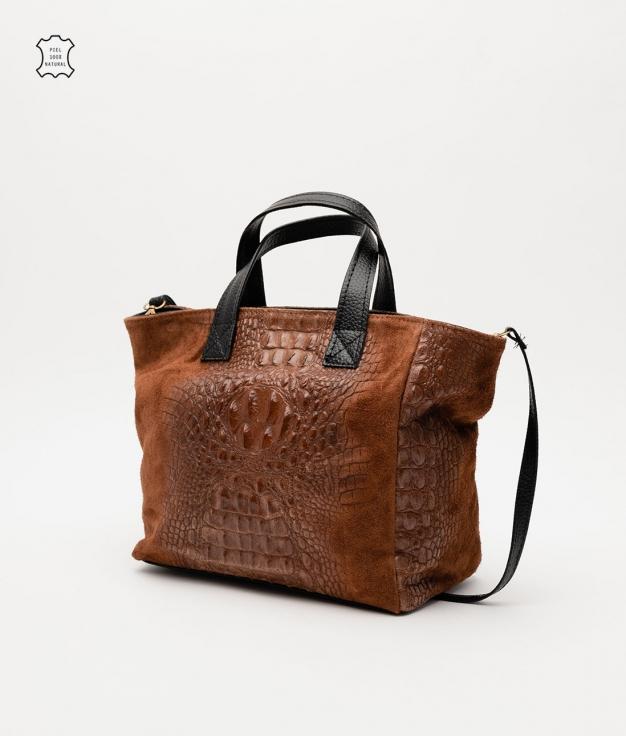 Leather bag Tesur - brown