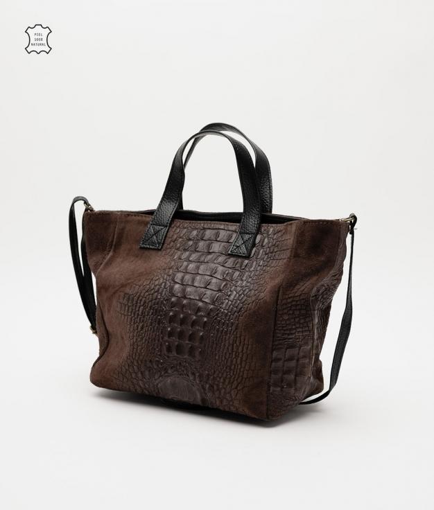 Leather bag Tesur - cafe