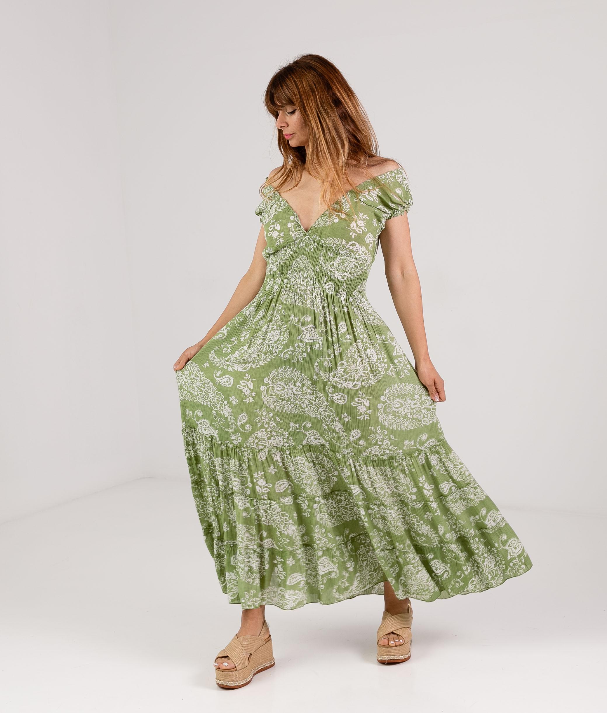 DRESS KILCRE - GREEN