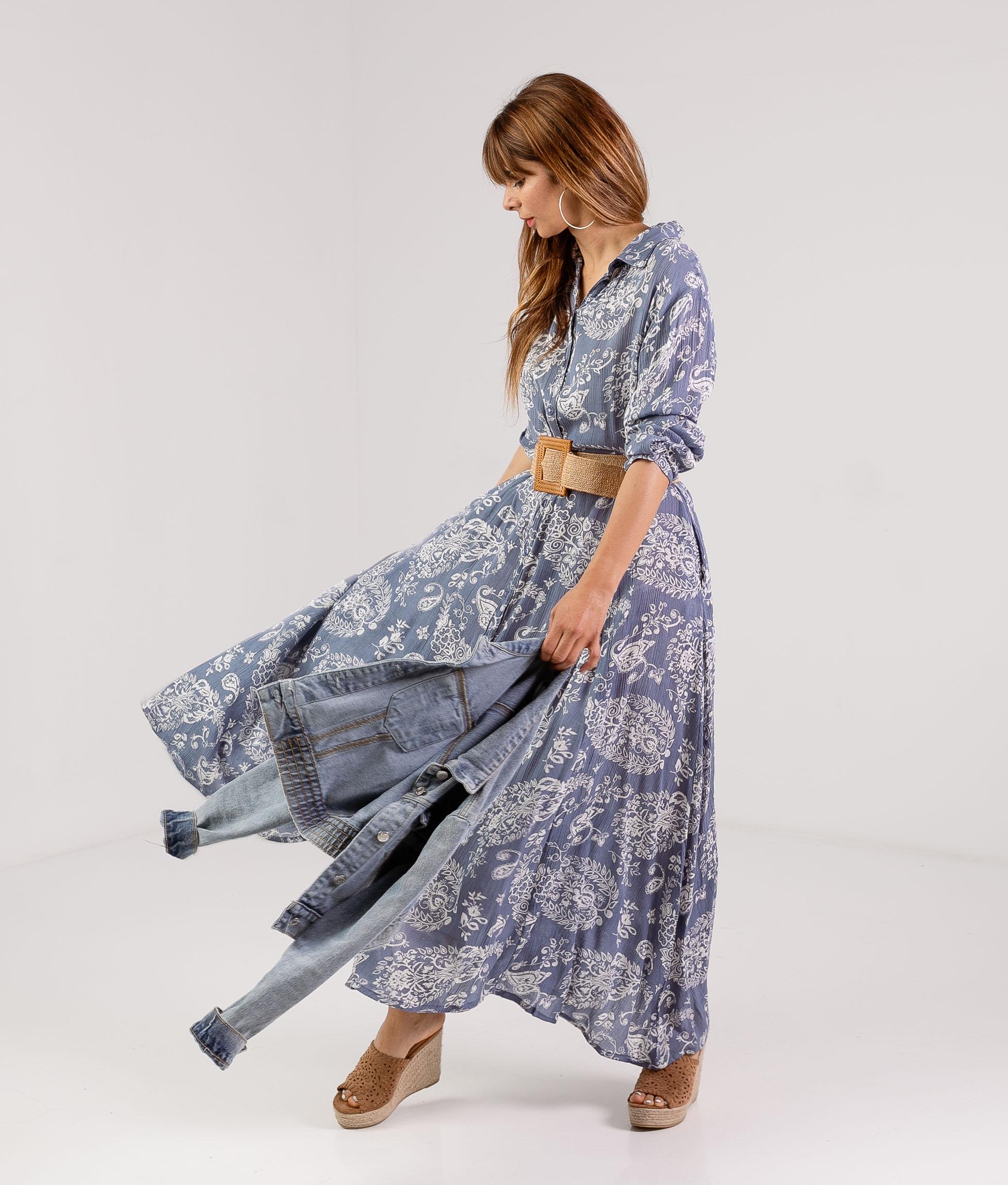 DRESS SINOLI - BLUE