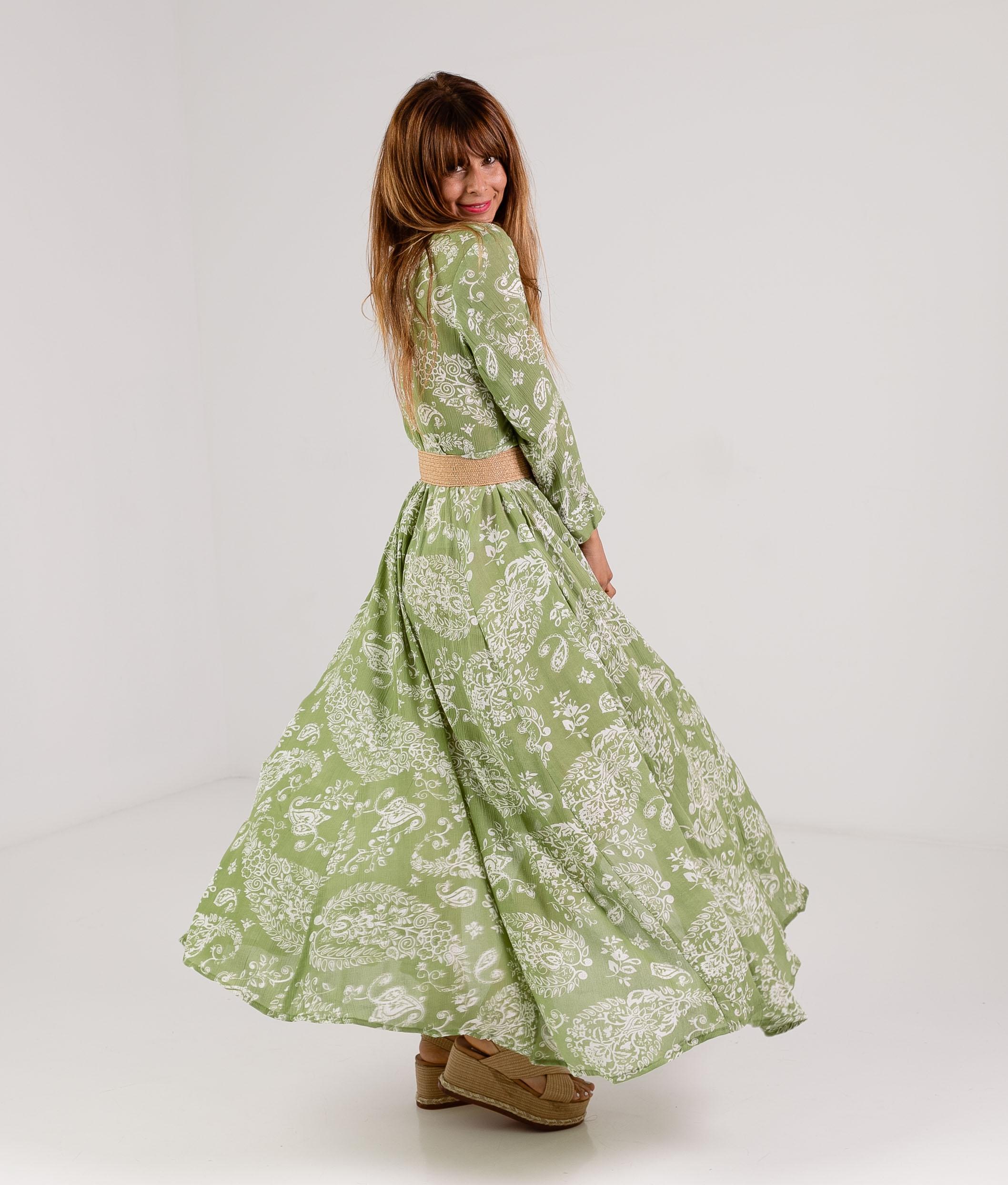 DRESS SINOLI - GREEN