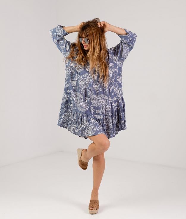 DRESS WIBOR - BLUE