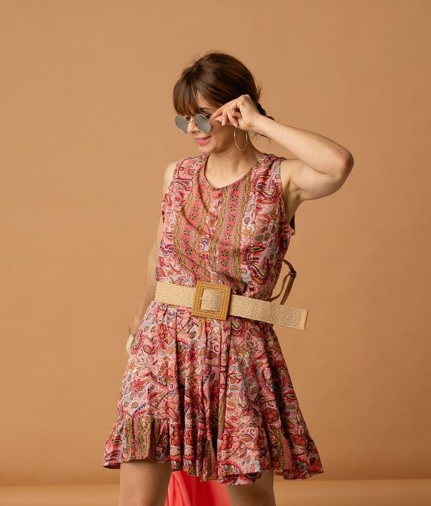 DRESS AFROTI - CORAL