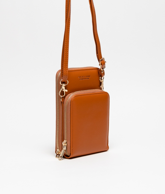 Wallet Mobile Holder Arcadi - Brown