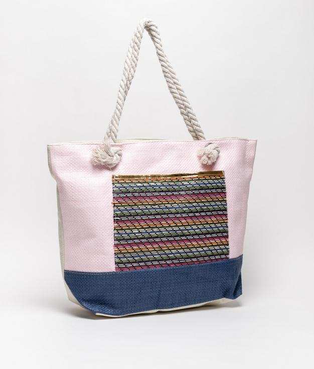 tiev beach bag - pink